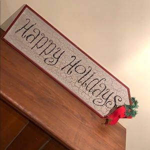 Happy Holiday Rustic Sign